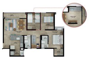 Planta apartamento tipo A últimos pisos