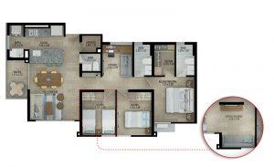Planta apartamento tipo C