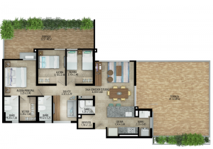 Planta apartamento tipo C Terraza 1