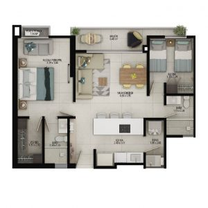 Planta apartamento tipo A